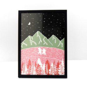 Fields of Joy ilustración lámina print