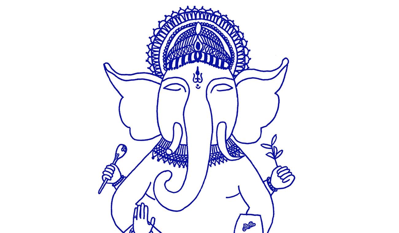 Ganesha ilustración