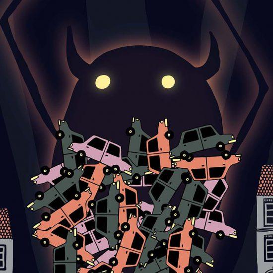 Túnel Non Elduayen ilustración cartel Vigo Histórico