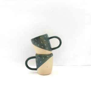 Taza Polar verde musgo Cerámica artesanal