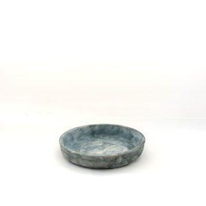 Plato maceta Anemoi cobalto bruñido cerámica artesanal