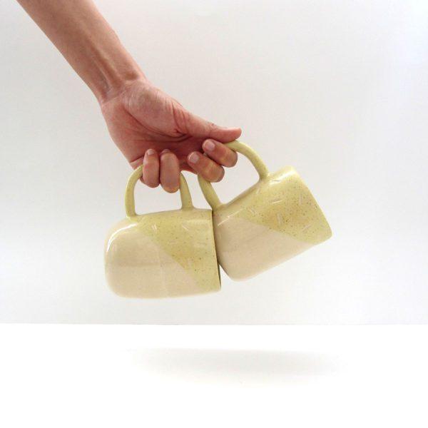 Taza Polar amarillo mostaza Cerámica artesanal