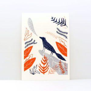 Lobo Ilustración Serigrafía