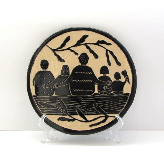 retrato personalizado cerámica ilustrada mishima artesanía galicia